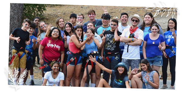 group photo of campers at Camp Kesem