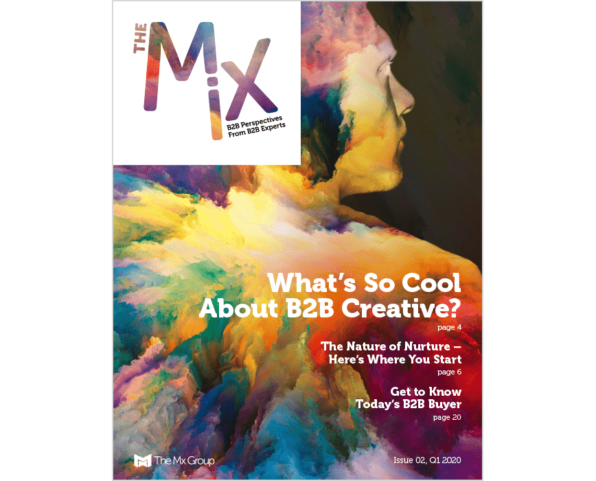cover of the mix magazine issue 2, What's so cool about B2B creative?