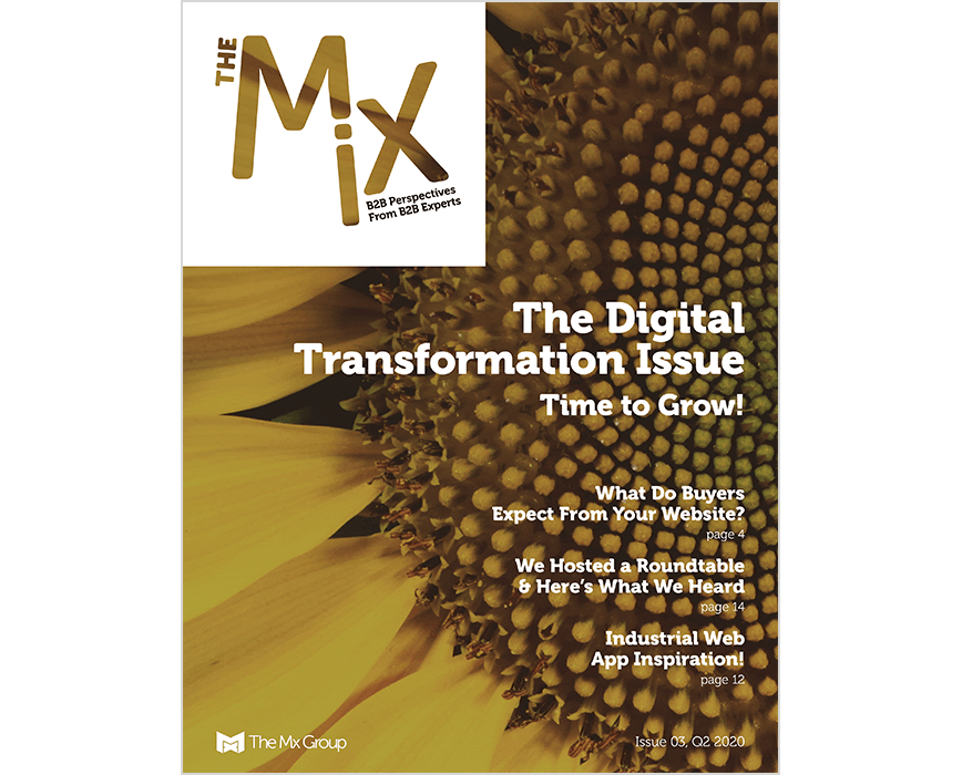 The Mix Magazine issue 3 cover, The digital transformation issue