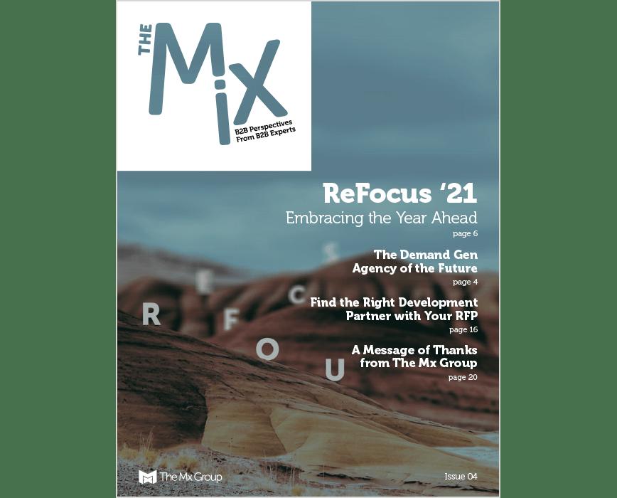 The Mix Magazine issue 4 cover, ReFocus '21