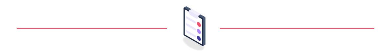 checklist icon between lines