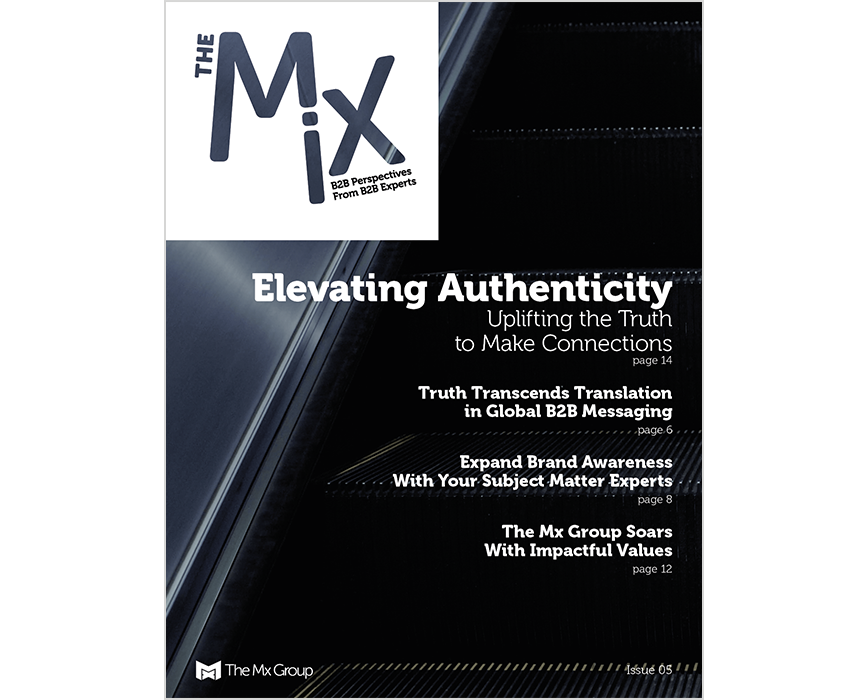 The Mix Magazine issue 5 cover, Elevating Authenticity